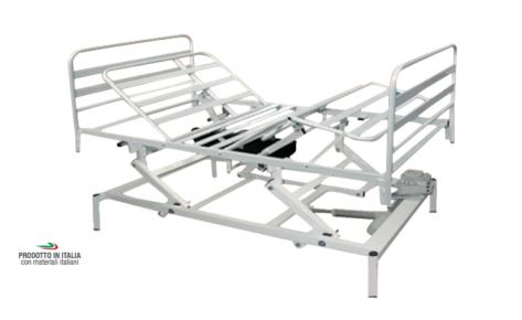 99.11/120EAVE-M Orthopedic Bed 4 Sections, Electric Movements, Electric Variable Height, Width 120 cm