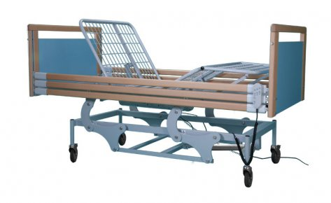 91.11-EAVE 4 Sections Orthopedic Bed, Electric Handling, Electric Variable Height, Headboard and Wooden Footboard