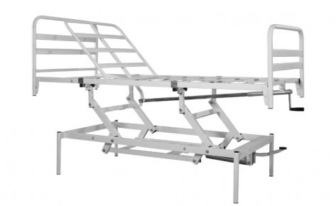 99.01-AV Orthopedic Bed 2 Sections 1 Crank, Hydraulic Variable Height